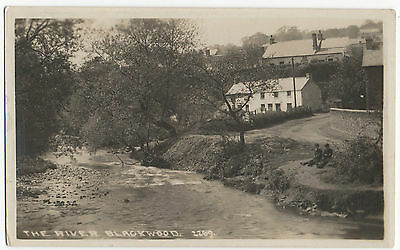 POSTCARD THE RIVER BLACKWOOD -  No 2269  MONMOUTHSHIRE WALES
