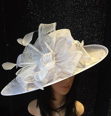 Nigel Rayment White Wedding Ascot Hat Occasion Mother Of The Bride