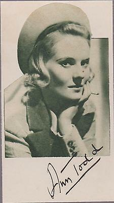 Hitchcock -  The Paradine Case - ANN TODD - clearly signed card & picture