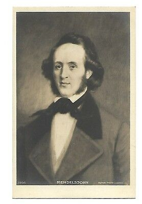 Composer Mendelssohn Real Photo Postcard