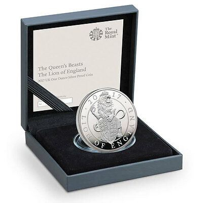 2017 Great Britain 2 Pound 1 oz Proof Silver Queen's Beasts Lion OGP SKU45011