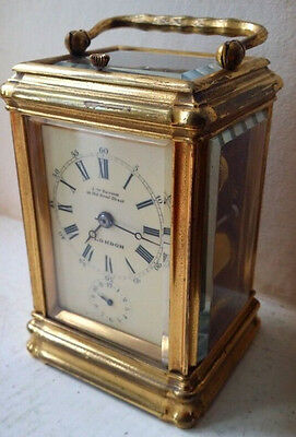 Lovely Very Rare Gorge Drocourt Striking Repeating Carriage Clock