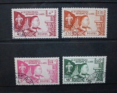 Laos 1959 Definitives King Sisavang Vong Set of 4. Fine USED. SG89/92.