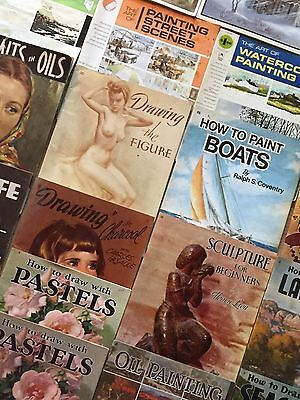 Collection of 20 Vintage Art Books - Landscapes, Pastels, Watercolors +more!
