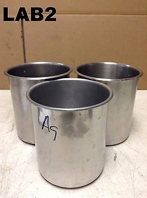 8QT 316/304 Stainless Steel Bain Marie Pot/Pail/Tote/Bucket/Drum- Lot of 3