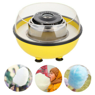Yellow Electric Cotton Candy Maker Sugar Floss Machine Party & Home US Plug