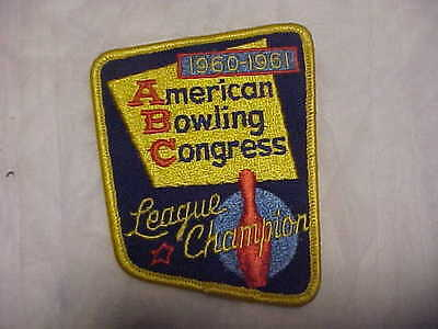 1960-1961 ABC American Bowling Congress League Champion Embroidered Patch