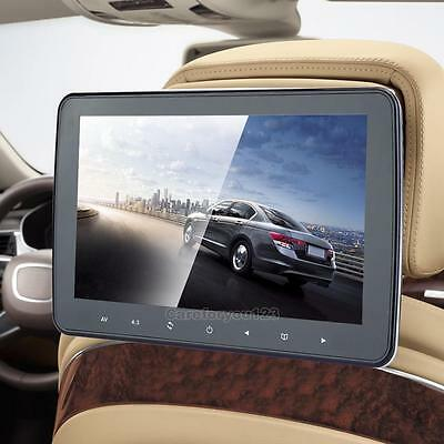 "10"" HD 1080P Digitl LCD Car Headrest Monitor MP5 Player Video Radio TV FM Game"