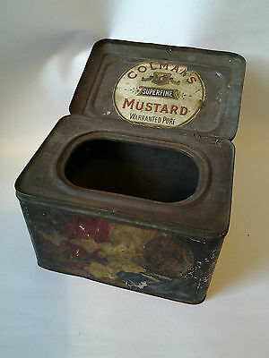 Scarce WWI J & J Colmans Mustard tin Home Front - Italy, Japan, France, Spain