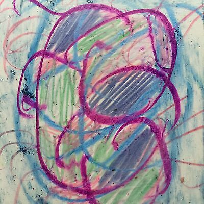 ACEO Original Ink, Colored Pencil + Crayon Abstract Drawing Signed US Artist