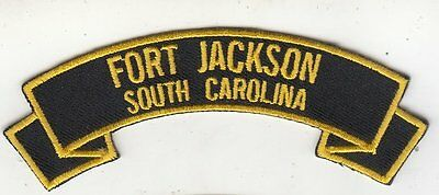 Fort Jackson,SC rocker tab  embroidered patch