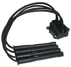 Renault Clio 1.2 16V Ignition Coil Pack And Leads 3 Bolt Fixing 01->