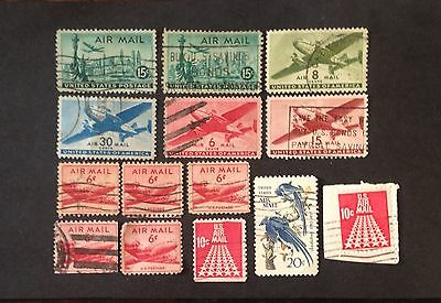 USA. A Selection Of Air Mail Stamps
