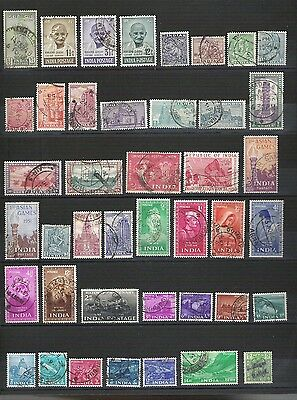 INDE INDIA #1 lot Obl TTB VFpostally used bonne côte 22.50€