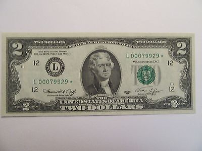 1976 $2 Federal Reserve STAR Note, San Francisco, UNC