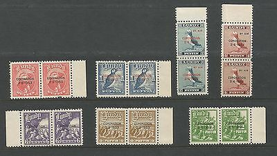 GB Locals Lundy Collection Puffins 1953 Coronation Pairs Overprints PRISTINE UMM