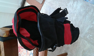 Skate Board Bag. Black with Red Trim
