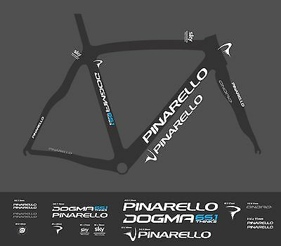 Pinarello Dogma Think2 Sky Custom Made Frame Decal Set