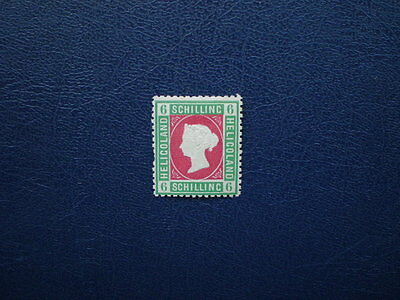 Heligoland mint Victoria 6 schilling stamp Reprint ? unchecked