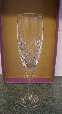 Royal Doulton Westminster champagne cut crystal glass / flute.