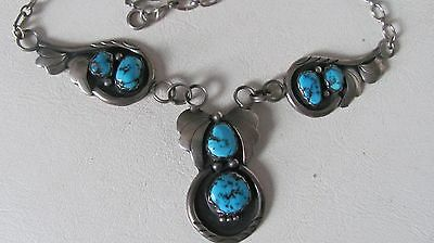 Vintage southwestern sterling and turquoise necklace