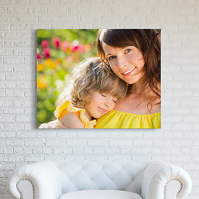 """Personalised YOUR PHOTO on a CANVAS Print Custom 40x30"""" (101x76cm) 18mm Framed"""