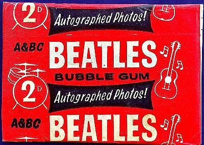 "1964 Beatles A&bc Bubble Gum Cards Sealed Uk Wax Pack/no ""topps""   Holiday Sale"