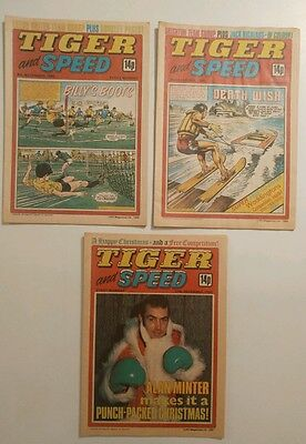 3 Issues Tiger and Speed Comic 1980 including Christmas issue