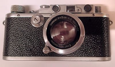 Leica 111A with 50mm F2 Leitz Summar Lens and Leather Case