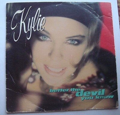 KYLIE MINOGUE better the devil you know vinyl record 1990