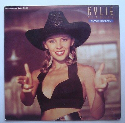 KYLIE MINOGUE never too late vinyl record 1989