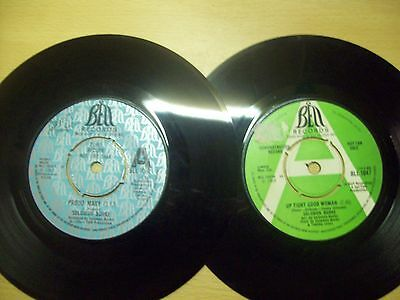 2 Solomon Burke Single Demo Records from 1968 and 1969 in vg to excellent cond
