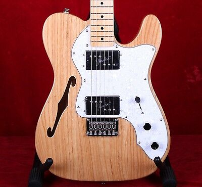 Squier Vintage Modified '72 Thinline Telecaster Tele Electric Guitar Natural