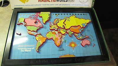 LARGE Vtg MAGNETIC PUZZLE WORLD MAP Geography HOMESCHOOL Game Educational Class