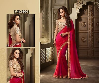 Indian Bollywood Designer Ethnic Traditional Wedding Party Wear Saree Sari
