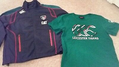 Leicester Tigers Rugby Training Jacket and T-shirt Age 8