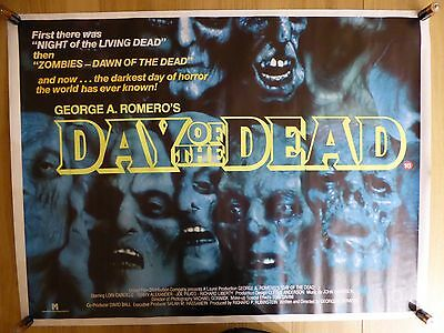 DAY OF THE DEAD (1985) - original UK quad film/movie poster, George A.Romero