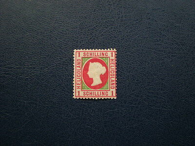 Heligoland mint Victoria 1 schilling stamp Reprint ? unchecked