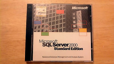 Microsoft SQL Server 2000 Standard and Personal Edition with Product Key