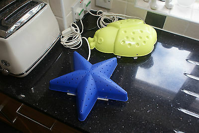 2 Lamps Star & Ladybird Wall or Free Standing