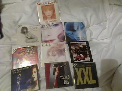 Mylene Farmer Lot  De 10  Cd Single