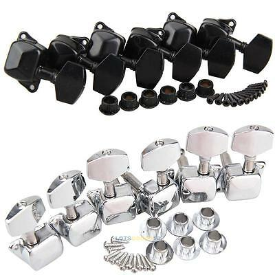 2 Colors Chrome Semiclosed 3L3R Tuning Pegs Machine Heads for Acoustic Guitar