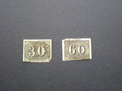 Brazil early small numeral imperf 30 & 60 r values used