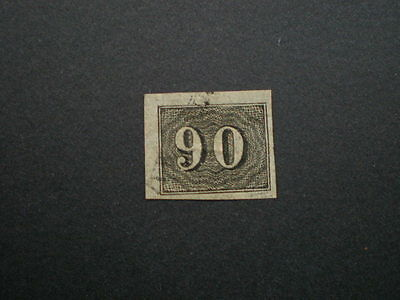 Brazil early small numeral imperf 90 r value used