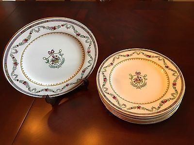 """6-RARE Spode Copeland's C3689 9"""" Luncheon Plates Sold By W.M.H. Plummer NY"""
