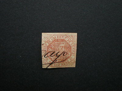 Venezuela  early 19th century imperf arms used stamp unchecked