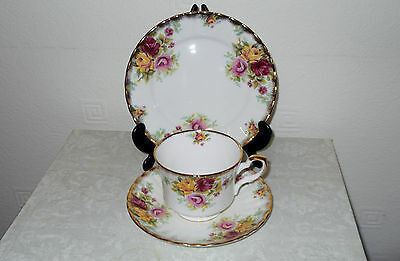 Vintage Shabby Chic China Royal Staffor Trio Cup Saucer & Plate Wedding Table
