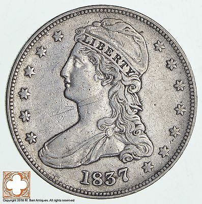 1837 Capped Busted Half Dollar - Reeded Edge *0515
