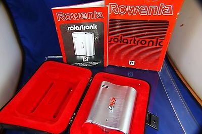 Vintage Rowenta Solar Solartronic Table Electronic Lighter 1980s NOS Boxed RARE