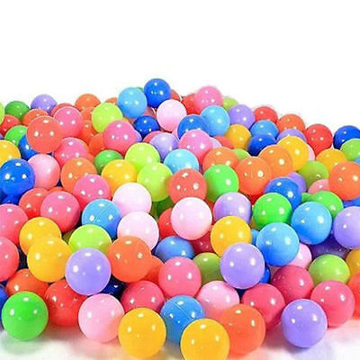 200x Quality Secure Baby Kid Pit Toy Swim Fun Colorful Soft Plastic Ocean Ball @